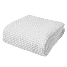 Super Soft Ardent Waffle Blankets White