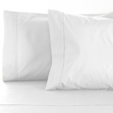 White De Vie 1000TC Cotton Sheet Set