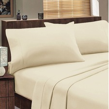 Jenny Mclean 175GSM Egyptian Cotton Abrazo Sheet Ivory