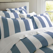 Oxford Stripe Quilt Cover Cobalt Blue
