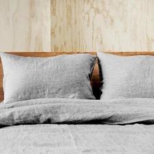 Linen Grey Doux Pure Linen Quilt Cover