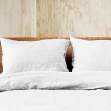 White Doux Linen Quilt Cover Set