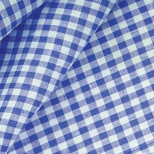 Blue Gingham Cotton Tablecloth