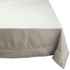 Grey Hemstitch Cotton Tablecloth