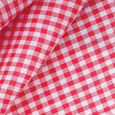 Red Gingham Cotton Tablecloth