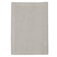 Grey Hemstitch Cotton Placemat (Set of 12)
