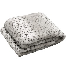 White Faux Animal Throw