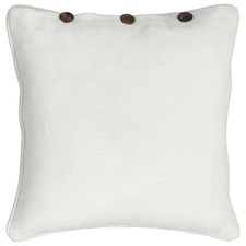London Buttoned Cotton Cushion Cover