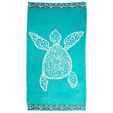 Turtle Jacquard Velour Beach Towel