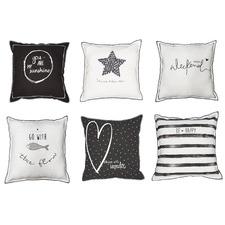 6 Piece Cotton Reversible Cushion Set