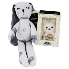 2 Piece Smiling Koala & White Jellies Bunny Teether Gift Set