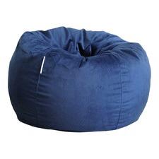 Ocean Blue Pierre Fur Beanbag Cover