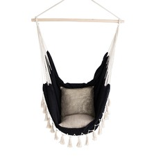 Soho Black Hammock with Cream Rope