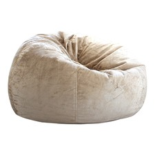 Champagne Pierre Faux Fur Beanbag Cover