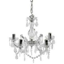 Grace Marie Therese 5 Light Chandelier Chrome