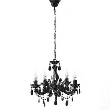 Grace Marie Therese 3-5 Light Chandelier Black