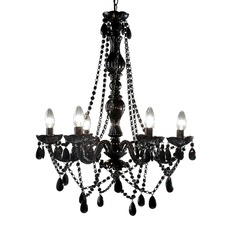 Romance 6 Light Chandelier Black