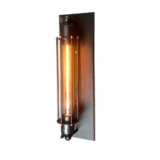 Black Wide Base Wall Sconce
