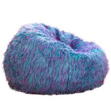 Multi Coloured Fur Beanbag Cover
