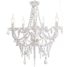 Devotion 5 Light Clear Acrylic Crystal Chandelier
