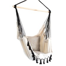 Soho Cream Hammock with Black Rope