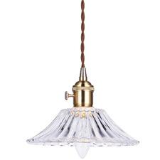 Gold Vintage-Style Fleur Pendant Light