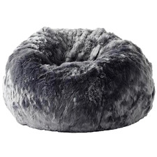 Charcoal Cloud Faux Fur Beanbag Cover