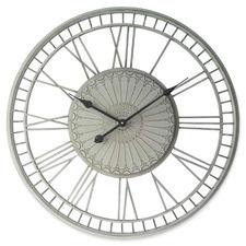 70cm Cream Tuscany Metal Wall Clock