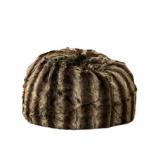 Dark Brown Sable Faux Fur Beanbag Cover