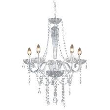 Splendor 5 Light Glass Chandelier