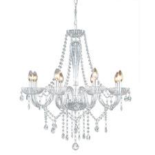 Splendor 8 Light Glass Chandelier