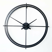 Lincoln Round Metal Wall Clock