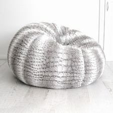 Silver Grey Nicky Beanbag Cover