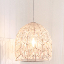 Amalfi Rattan Lace Pendant Light