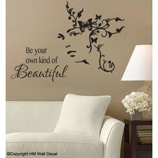 Be Your Own Kind of Beautiful DIY Wall Art Decal Set