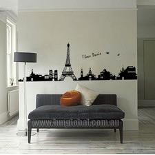 I Love Paris Wall Decal