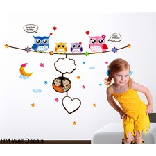 Owl Family DIY Kids Removable Wall Decal