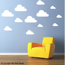12 Clouds Removable Wall Sticker