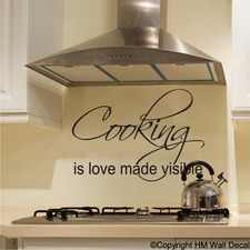 Cooking is Love Made Visible Wall Decal