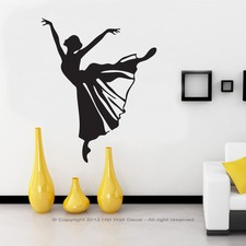 Dancing Girl Wall Art Decal