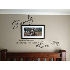 Family...Two People Fall In Love Wall Quote Decal