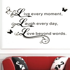 Live Every Moment...Wall Quote Decal