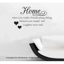 Home is Where Love Resides Wall Quote Decal