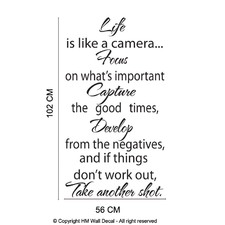 Life Inspirational Quote Wall Art Decal