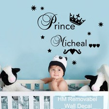 Personalised Name Little Prince Wall Sticker