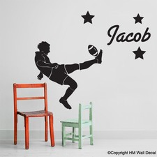 Personalised Name and Football Player Wall Sticker