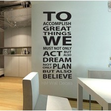 To Accomplish Great Things Wall Quote Decal
