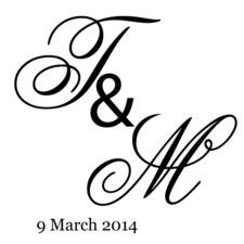 Personalised Wedding or Dance Floor, Bride, Groom Initial and Date Wall Decal