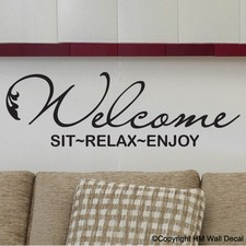 Welcome Inspirational DIY Removable Wall Decal