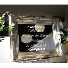 Personalised Wedding Welcome Mirror Sticker